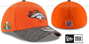 Broncos 'NFL SUPER BOWL 50 ONFIELD FLEX' Hat by New Era