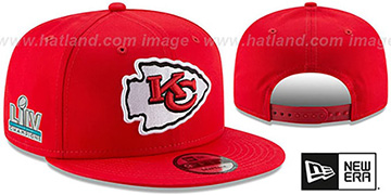 Chiefs 'SUPER BOWL LIV CHAMPIONS' SNAPBACK Red Hat by New Era