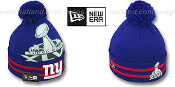 NY Giants 'SUPER BOWL XLVI' Royal Knit Beanie Hat by New Era