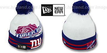 NY Giants 'SUPER BOWL XXI' White Knit Beanie Hat by New Era