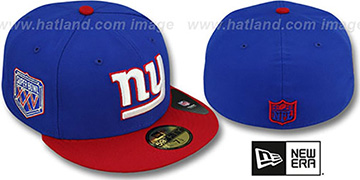 NY Giants 'SUPER BOWL XXV' Royal-Red Fitted Hat by New Era