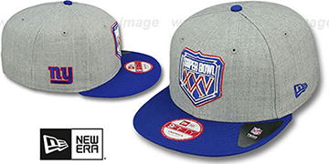 NY Giants 'SUPER BOWL XXV SNAPBACK' Grey-Royal Hat by New Era