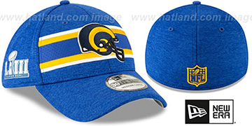 Rams 'NFL SUPER BOWL LIII ONFIELD FLEX' Royal Hat by New Era