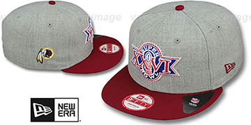 Redskins 'SUPER BOWL XXVI SNAPBACK' Grey-Burgundy Hat by New Era