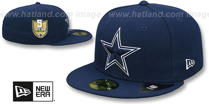 SuperBowlHats.com - Super Bowl Hats - Cowboys  GOLDEN-HIT  Navy Fitted Hat  by New Era 13c31b983