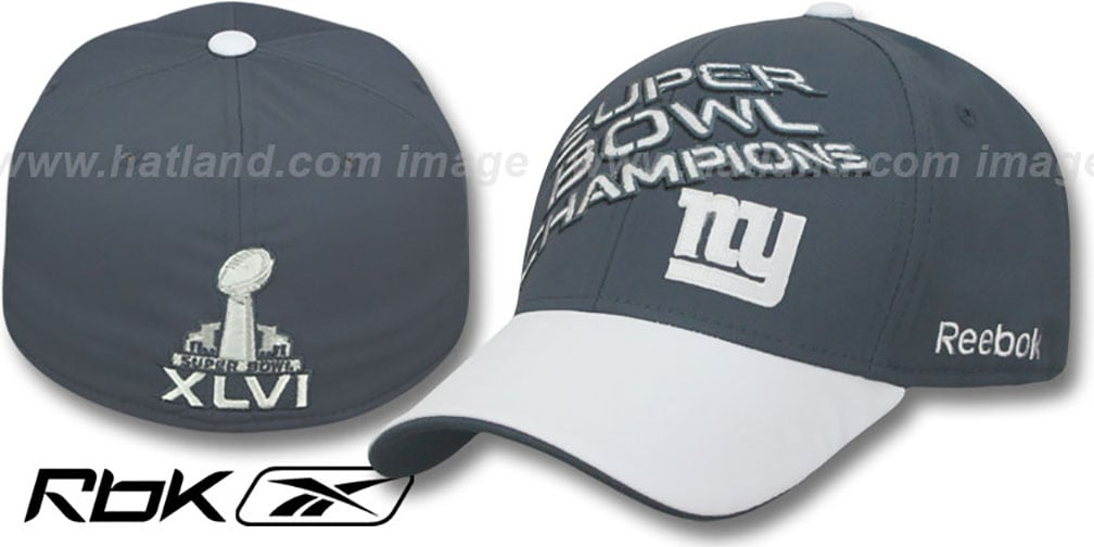 NY Giants 'SUPERBOWL XLVI CHAMPS' Hat by Reebok