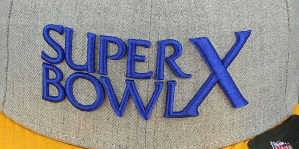Steelers 'SUPER BOWL X SNAPBACK' Grey-Gold Hat by New Era