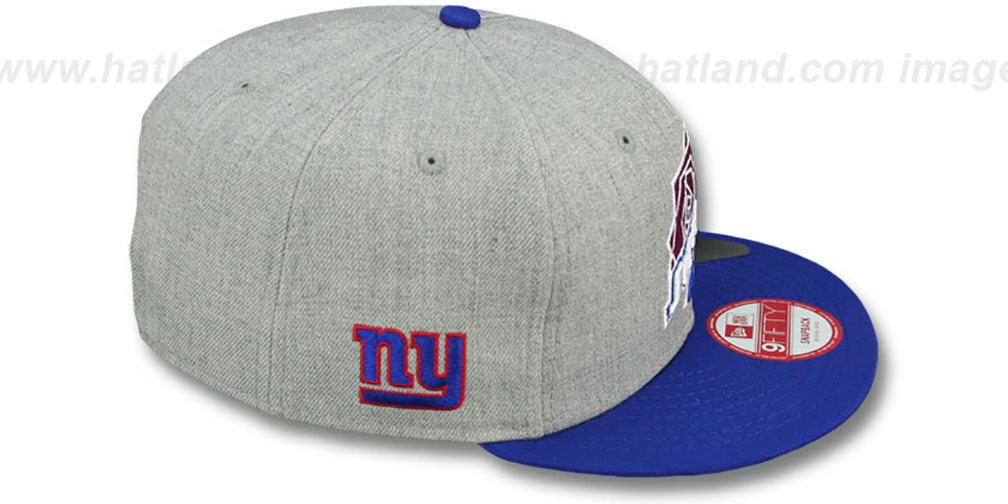 NY Giants 'SUPER BOWL XXI SNAPBACK' Grey-Royal Hat by New Era