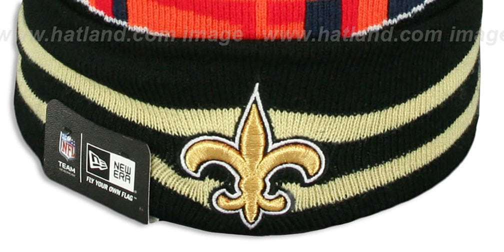 Saints 'SUPER BOWL XLIV' Black Knit Beanie Hat by New Era