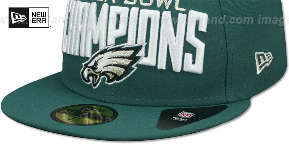 Eagles 'SUPER BOWL LII CHAMPIONS' Green Fitted Hat by New Era